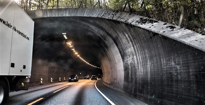 Tunneler oppgradering. Nesttuntunnelen, en av tunnelene i Bergensområdet der det foregår oppgradering.