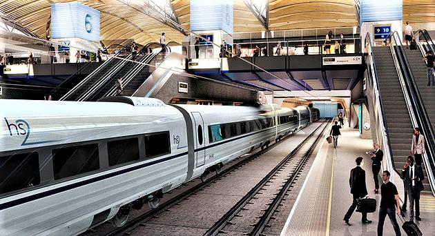 Høyhastighetstog britisk. Planene er etter hvert gamle, spørsmålet nå er om de blir til virkelighet. Illustrasjon: Department for Transport