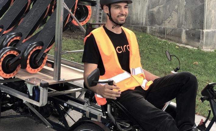 Elsparkesykler på elfraktsykkel. Foto: Circ