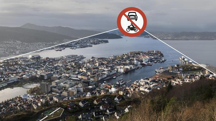 Bilfritt sentrum, ergen. Kanskje et bilfritt Bergen sentrum, om enn neppe på veldig kort sikt.V