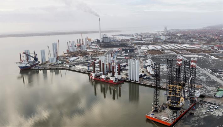 Bæredyktighet, havner. Esbjerg Havn (bildet) i allianse med Oslo Havn og åtte andre nordiske havner, med bæredyktighet som mål. Foto: Esbjerg Havn