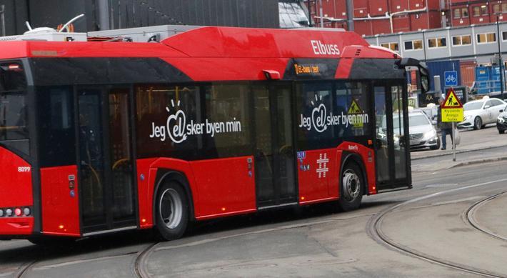 Elbusser i Norge. Oslo, en av de norske byene der elbussen er blitt en del av hverdagsbildet. Foto: F. Dahl