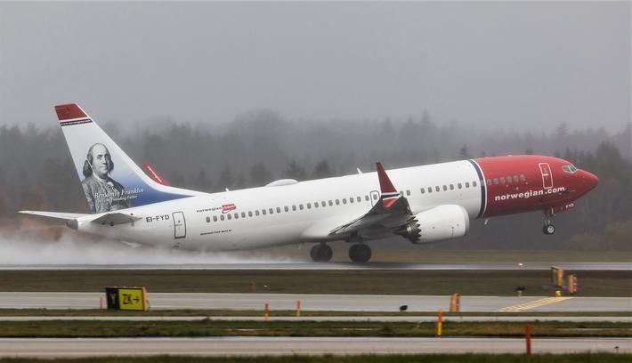 Boeing 737 MAX, sumulatortrening. Norwegian er blant mange flyselskaper som er rammet av at deres 737 MAX-maskiner i månedsvis har vært ute av trafikk – og av at ytterligere bestilte fly av denne typen ikke er blitt levert. Foto: Davis Peacock