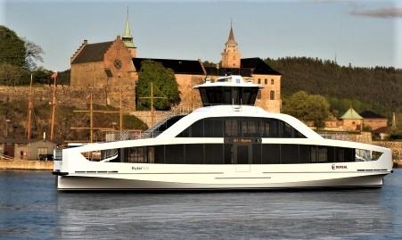 El-øybåter til Oslofjorden. Omtrent slik skal de nye øybåtene se ut. Illustrasjon Multi Maritim