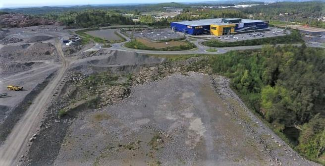 Posten, terminal, Kristiansand. Her skal den nye terminalen bygges. Foto: Posten Norge