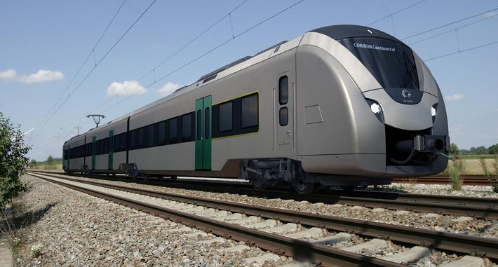 Batteridrevne tog som dette skal betjene strekningen Leipzig og Chemnitz. Illustrasjon: Alstom