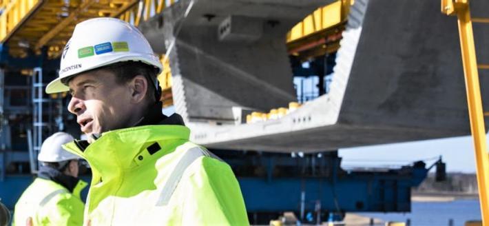Veibygging, korona, Danmark. Rask betaling etter at jobben er gjort … Illustrasjonsfoto: Vejdirektoratet
