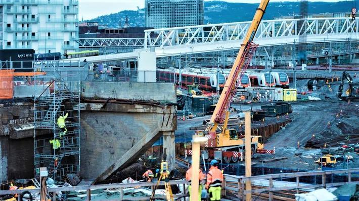Kostnadssprekker, jernbane. Prosjektet for bygging av Follobanen mellom Oslo og Ski er blant dem som er rammet av ny usikkerhet. Foto: Bane NOR