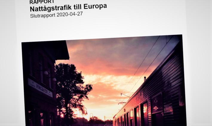 Trafikverket har levert sluttrapport etter å ha utredet mulig satsing på nattog mellom Sverige og Kontinentet.Sverige-Kontinentet. Trafikverket har levert sluttrapport etter å ha utredet mulig satsing på nattog mellom Sverige og Kontinentet.