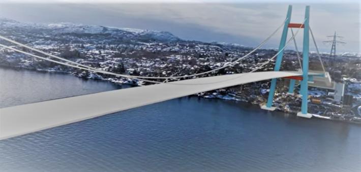 Sotrasambandet. En ruvende bro inngår i prosjektet. Illustrasjon fra Statens vegvesen-video
