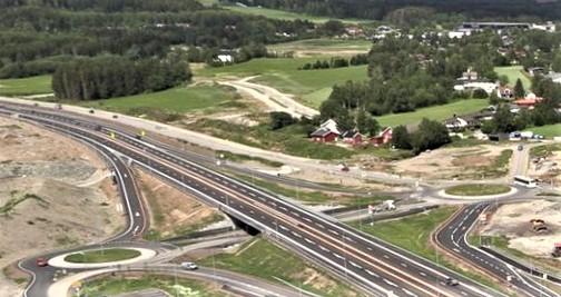 E6 Hamar-Brumunddal. Mer motorvei gjennom landskapet. Foto: Nye Veier