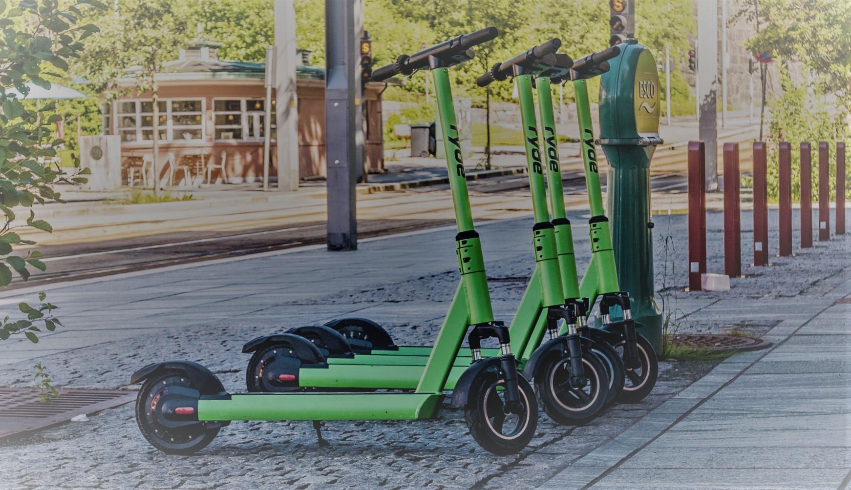 Omstridte elsparkesykler. Elektriske sparkesykler har invadert Bergen.