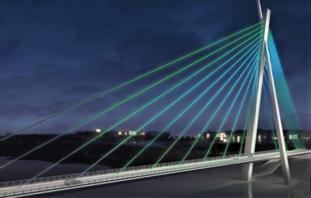 Tana bru. En ikke veldig stor bro, men ifølge Statens vegvesen kanskje en av landets vakreste. Illustrasjon: Klipp fra video signert ZENISK/Statens vegvesen