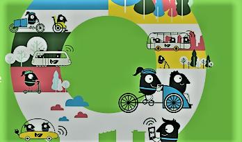 Europeisk mobilitetsuke. Det skal helst være utslippsfritt … Illustrasjon: EU