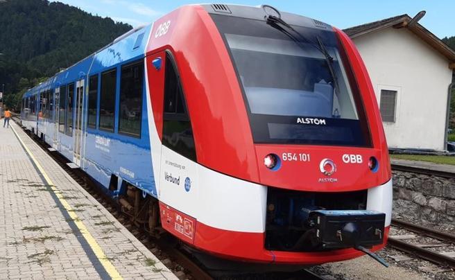 Hydrogendrevet tog. Hydrogentog klart for passasjertrafikk i Østerrike. Foto: Alstom