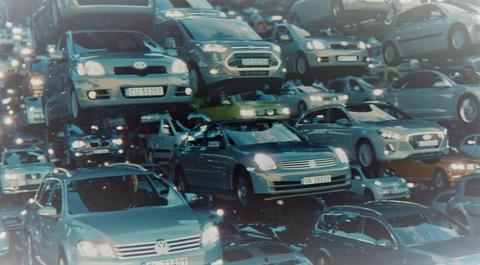 Kampanje mot farlig fart. «For høy fart var medvirkende årsak i 4 av 10 dødsulykker i 2019», skriver Statens vegvesen. Illustrasjon: Utsnitt av kampanjebilde, Statens vegvesen