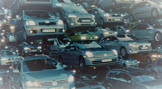 Kampanje mot farlig fart. «For høy fart var medvirkende årsak i 4 av 10 dødsulykker i 2019», skriver Statens vegvesen. Illustrasjon: Utsnitt av kampanjebilde, Statens vegvesenFarlig