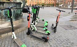 Hjelm, elsparkesykler. Hjelmplikt aktuelt for brukere av elsparkesykler i Danmark. Foto: Transport- og Boligministeriet.