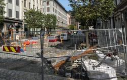 Bergen, gate- og veiprosjekter tar tid. Opprustningen av den travle bussgaten Olav Kyrres gate i Bergen er blitt ytterligere forsinket.