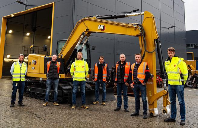 El-gravemaskiner. Denne maskinen er ikke elektrisk, men de fem ventede el-gravemaskinene skal ha omtrent samme utseende. Foto: Utleiesenteret