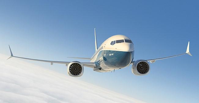 Katastrofeutsatte Boeing 737 MAX. Boeing 737 MAX, flytypen som ventelig snart vil komme i kommersiell fart igjen. Illustrasjon: Boeing