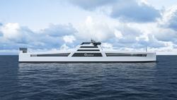 Stor statlig støtte, via Enova, til to skip som dette. Illustrasjon fra Enova.