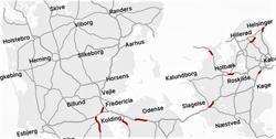 Dansk klimavennlig asfalt. Litt etter litt skal klimavennlig asfalt komme til å dominere det danske hovedveinettet. Illustrasjon: Vejdirektoratet